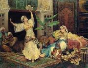 unknow artist, Arab or Arabic people and life. Orientalism oil paintings 604