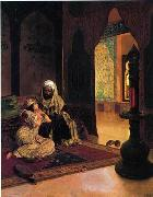 unknow artist, Arab or Arabic people and life. Orientalism oil paintings 593