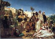 unknow artist, Arab or Arabic people and life. Orientalism oil paintings 601