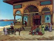 unknow artist, Arab or Arabic people and life. Orientalism oil paintings 120