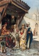 unknow artist, Arab or Arabic people and life. Orientalism oil paintings 596