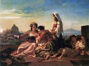 unknow artist, Arab or Arabic people and life. Orientalism oil paintings 591