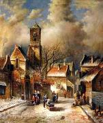 unknow artist European city landscape, street landsacpe, construction, frontstore, building and architecture. 157