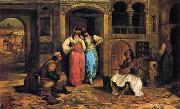 unknow artist, Arab or Arabic people and life. Orientalism oil paintings 598