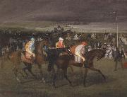 Edgar Degas, At the races The Start