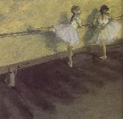 Edgar Degas, ballerina being practising