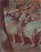 Edgar Degas, ballerina wear green dress
