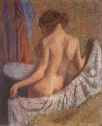 Edgar Degas, After the Bath,woman witl a towel
