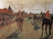Edgar Degas, a group of Racehorse