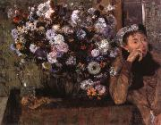Edgar Degas, A Woman seated beside a vase of flowers