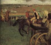 Edgar Degas, amateurish caballero on horse-race ground