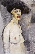 Amedeo Modigliani, Female nude with hat