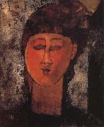 Amedeo Modigliani, Girl with Braids