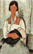 Amedeo Modigliani, Gypsy Woman and Girl