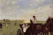 Edgar Degas, A Carriage at the Races