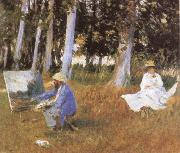 John Singer Sargent, Claude Monet Painting at the Edge of a wood