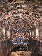 Michelangelo Buonarroti, Interior of the Sistine Chapel