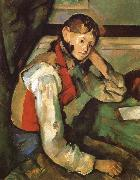 Paul Cezanne Boy in a Red waiscoat