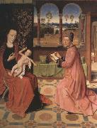 Dieric Bouts, Saint Luke Drawing the Virgin and Child