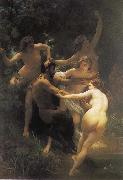 Adolphe William Bouguereau, The god of the forest with their fairy