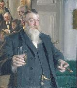 Anders Zorn, A Toast in the Idun Society,