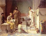 John William Waterhouse, A Sick Child brought into the Temple of Aesculapius