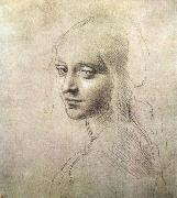 LEONARDO da Vinci, Head of a girl