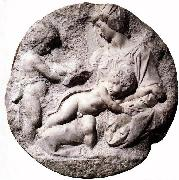 Michelangelo Buonarroti, Madonna and Child with the Infant Baptist
