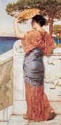 John William Godward, On the Balcony