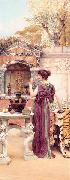 John William Godward, At the Garden Shrine, Pompeii