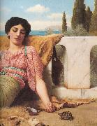 John William Godward, A Quiet Pet detail