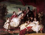 Franz Xaver Winterhalter, Portrait of Queen Victoria, Prince Albert, and their children