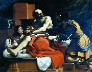 GUERCINO, Jacob, Ephraim, and Manasseh, painting by Guercino