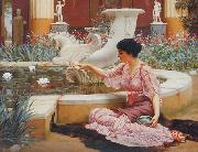 John William Godward, A Pompeian Garden
