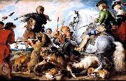 Peter Paul Rubens, A 1615-1621 oil on canvas 'Wolf and Fox hunt' painting by Peter Paul Rubens
