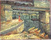 Vincent Van Gogh, Bridges across the Seine at Asnieres