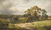 unknow artist, A quiet scene in Derbyshire (oil painting) by George Turner