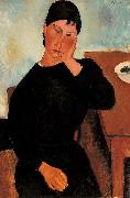 Amedeo Modigliani, Elvira Resting at a Table