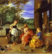 Peter Paul Rubens, Christ in the House of Martha and Mary 1628 Jan Bruegel the Younger and Peter Paul Rubens