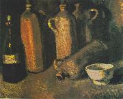 Vincent Van Gogh, bottles and white bowl
