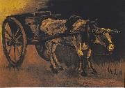 Vincent Van Gogh, Cart with reddish-brown ox