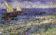 Vincent Van Gogh Boats at Sea, Saintes-Maries-de-la-Mer
