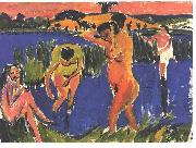 Ernst Ludwig Kirchner, Four bathers