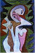 Ernst Ludwig Kirchner, Lovers (The kiss)