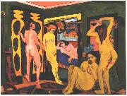 Ernst Ludwig Kirchner, Bathing women in a room