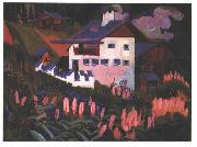 Ernst Ludwig Kirchner, House in the meadows