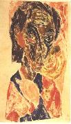 Ernst Ludwig Kirchner, Head of a sick man - Selfportrait