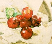 Demuth, Charles Still Life with Apples and a Green Glass Sweden oil painting reproduction
