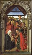 Dieric Bouts, The Annunciation,The Visitation,THe Adoration of theAngels,The Adoration of the Magi