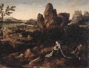 unknow artist, A landscape with the rest on the Flight into egypt